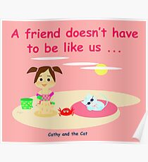 Cathy and the Cat - Different friends Poster