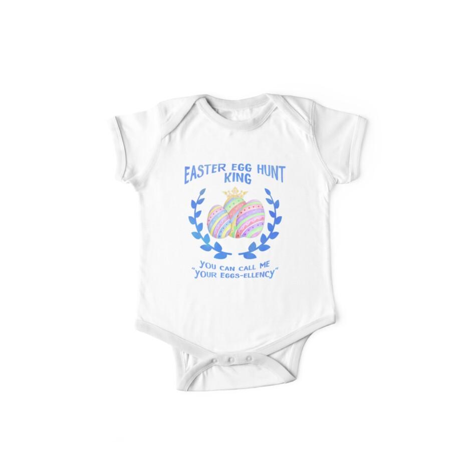 a25dd95de Easter Egg Hunt King - Kids Cute Funny Pun T-Shirt for Boys