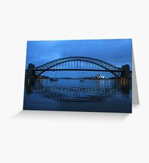 Iconic Reflections- Sydney Harbour Australia Greeting Card