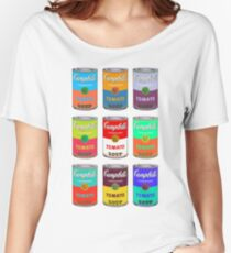 Andy Warhol Campbell's soup cans pop art Women's Relaxed Fit T-Shirt