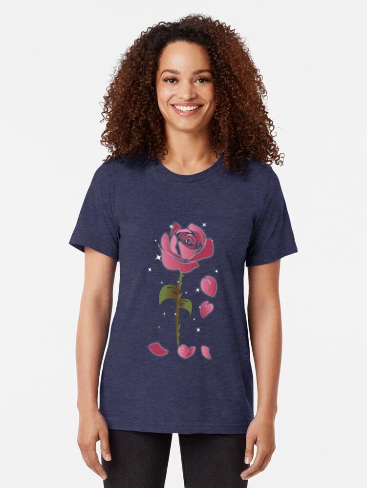 Alternate view of Rose Princess - Movie Petals - Princess Stuff Tri-blend T-Shirt