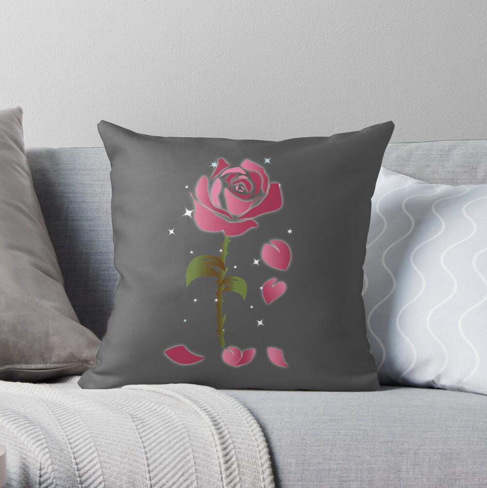 Rose Princess - Movie Petals - Princess Stuff Throw Pillow