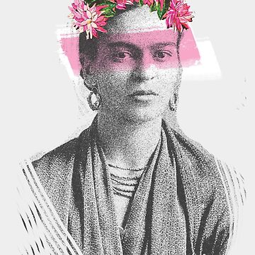 frida kahlo - pink flowers by NAAY