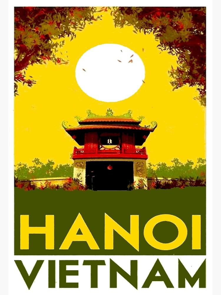 HANOI VIETNAM: Vintage Travel Advertising Print by posterbobs
