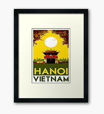 HANOI VIETNAM: Vintage Travel Advertising Print Framed Print