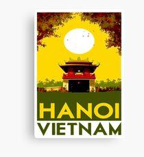 HANOI VIETNAM: Vintage Travel Advertising Print Canvas Print