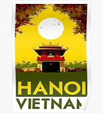 HANOI VIETNAM: Vintage Travel Advertising Print Poster