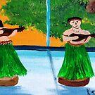 Wahini & Kane Aloha  by WhiteDove Studio kj gordon