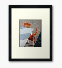"""""""Table & chairs"""" Framed Print"""