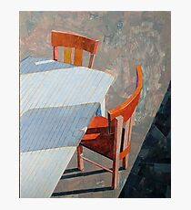 """""""Table & chairs"""" Photographic Print"""