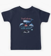 Forget Princess I Want To Be A Marine Biologist Kids T-Shirt Kids Tee