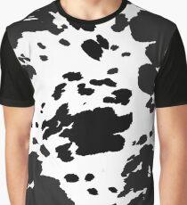 Cow Print Pattern Graphic T-Shirt