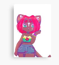 Anthro Cat Canvas Print