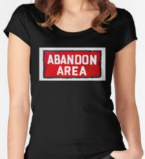 Abandon Area Women's Fitted Scoop T-Shirt