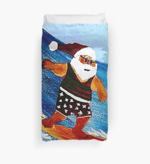 Surfin' Santa Duvet Cover