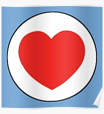 Herz im Kreis Poster