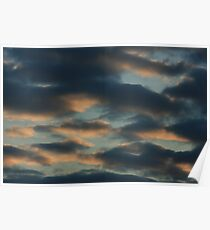 Suset with clouds Poster