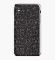 Black and Grey Skull & Crossbones Surface Pattern iPhone Case/Skin
