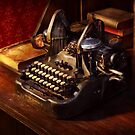 Steampunk - Oliver's typing machine by Mike  Savad