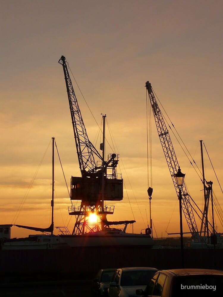 Dawn at the boatyard by brummieboy