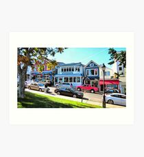 Main Street - Bar Harbor Art Print