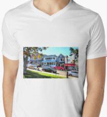 Main Street - Bar Harbor Men's V-Neck T-Shirt