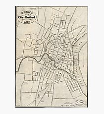 Old Map of Hartford, Connecticut (1859) Photographic Print