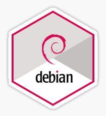 debian hexagonal Sticker