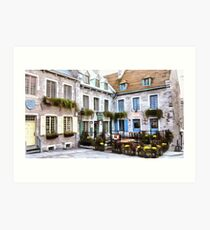 Place Royale - Old Quebec City Art Print