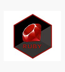 ruby hexagonal Photographic Print