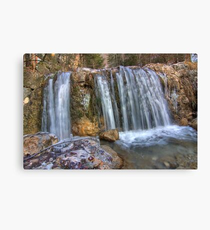 Icicle Fall Canvas Print