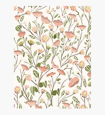 Spring Floral Pattern Photographic Print