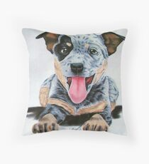 Heeler Pup Throw Pillow