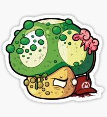 Super Mario Mushroom zombie Sticker