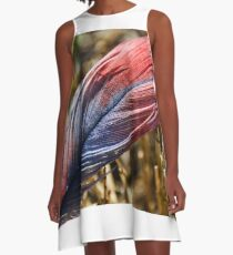 Macro Feather In Color A-Line Dress