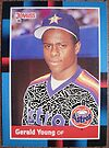 274 - Gerald Young by Foob's Baseball Cards