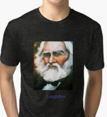 Henry Wadsworth Longfellow, American Poet Tri-blend T-Shirt