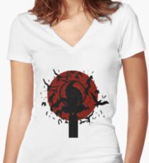 Itachi Women's Fitted V-Neck T-Shirt