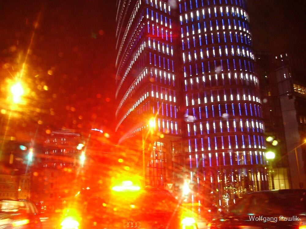 VIENNA CITY LIGHTS Nr.45 - UNIQA-Building  by Wolfgang Pawlik