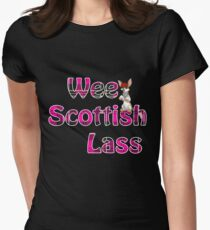 Wee Scottish Lass Pink Womens Fitted T-Shirt