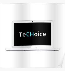 TeCHoice Laptop Poster