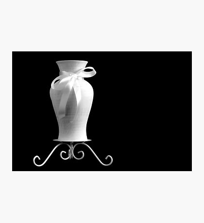 Vase With White Bow Photographic Print