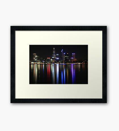 Perth Lights (full size) Framed Print