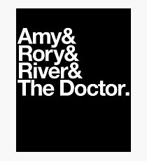Amy & Rory & River & The Doctor. Photographic Print
