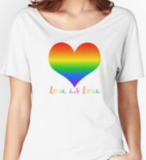 love is love pride heart Women's Relaxed Fit T-Shirt