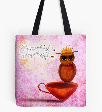 What my #Coffee says to me - September 23, 2014 Tote Bag