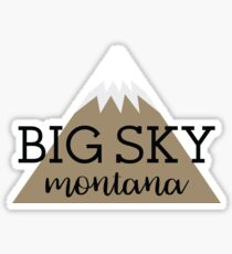 Big Sky, Montana Geofilter Sticker