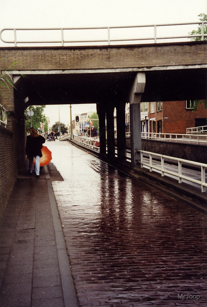 A touch of orange. Summer of 1997. Typical Dutch weather! by MrJoop
