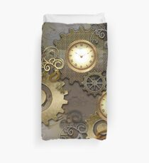 Steampunk, clocks and gears  Duvet Cover