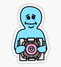 Mr Meeseeks Companion Cube Sticker